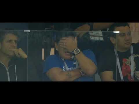 شاهد.. مارادونا يبكي بعد خسارة الأرجنتين أمام كرواتيا