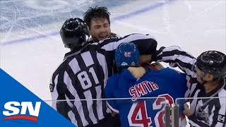 Brendan Smith Hunts Down Tom Wilson Seconds After Stepping Onto The Ice