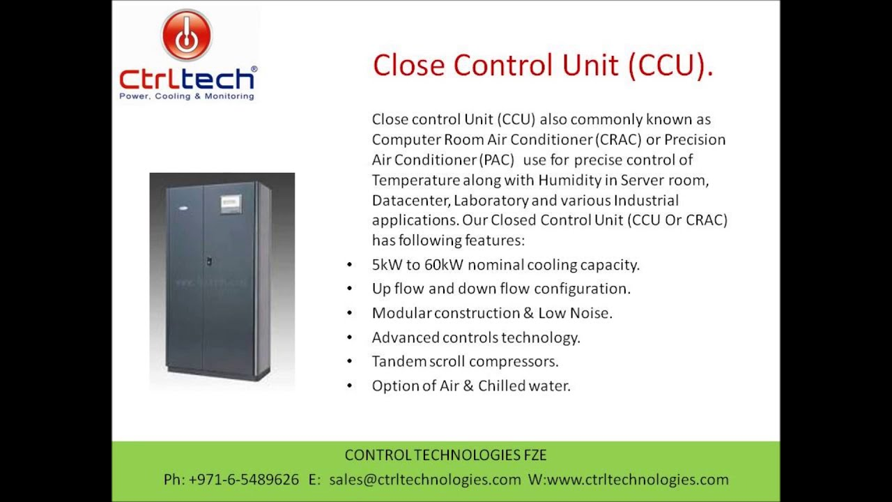 Close Control Unit Precision Air Conditioner Server Room