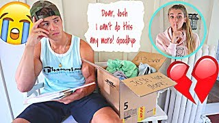 Leaving My Boyfriend With ONLY A Goodbye Letter...