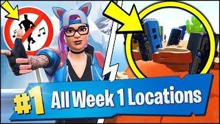 *ALL* Fortnite WEEK 1 CHALLENGE LOCATIONS | CROWN OF RV's, METAL TURTLE, SUBMARINE (Season 7 Week 1)