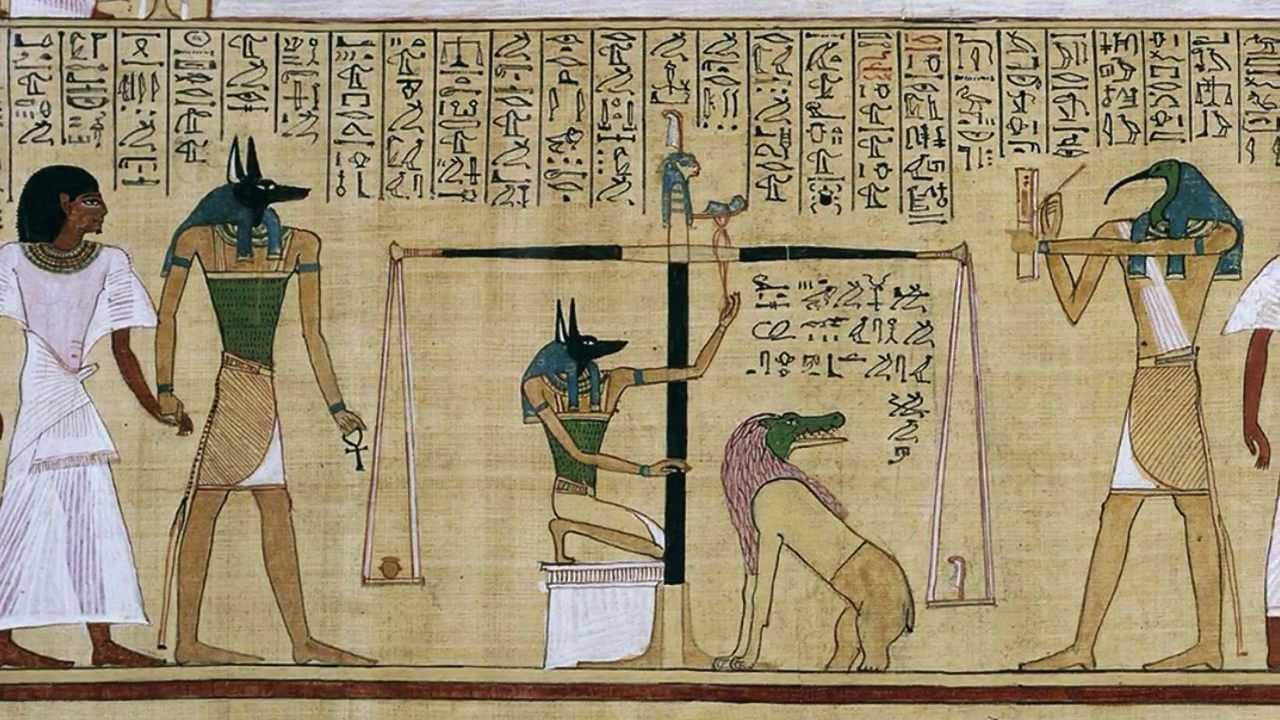 Judgement in the Presence of Osiris, Hunefer's Book of the ...  Judgement Before Osiris