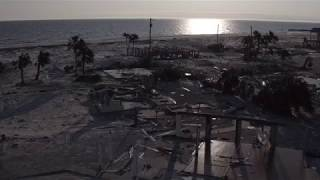 Drone footage shows how Hurricane Michael decimated Mexico Beach
