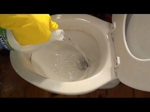 how to remove hard water stains from toilet bowl youtube. Black Bedroom Furniture Sets. Home Design Ideas