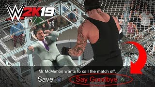 WWE 2K19 What Happens if you DON'T Save Mr McMahon?