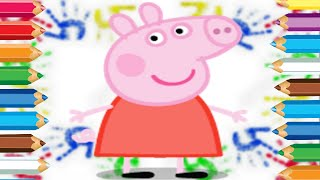 Best Kids Peppa Pig Colouring Learning Colours With Peppa and George Coloring Video