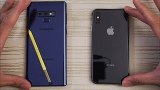 Samsung Galaxy Note 9 vs iPhone X - Speed Test! Which is BEAST?!