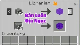 CÁCH LÀM CHO VILLAGER BÁN ĐỒ THEO Ý MÌNH TRONG MCPE | Minecraft PE 1.1.4