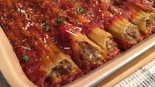 Meat Manicotti Recipe - Delicious Stuffed Pasta! - Episode #69