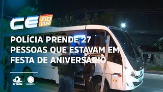 Polícia prende 27 pessoas que estavam em festa de aniversário