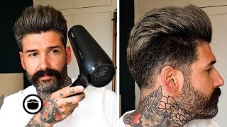 How to Style a Pompadour Hairstyle | Carlos Costa