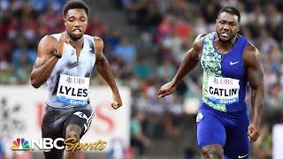 Lyles duels Gatlin, Xie to the line in 100m at Diamond League | NBC Sports