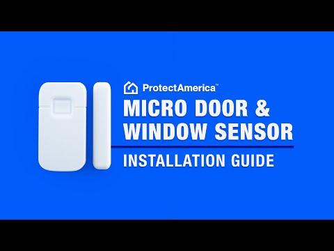 Installing Door and Window Sensors - Protect America