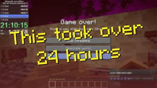 Beating every version of Minecraft on Hardcore... in 1 sitting...