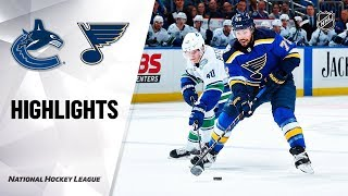 Canucks @ Blues 10/17/19 Highlights