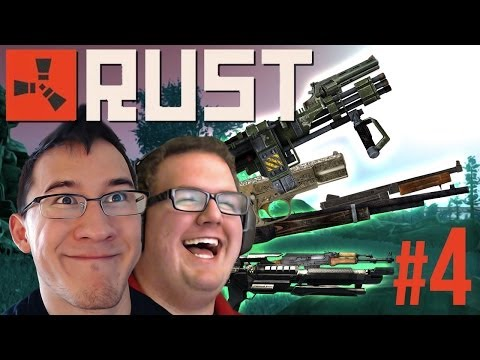 WE GOT GUNS!!   Rust Gameplay #4 - Smashpipe Games