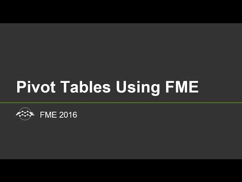 Pivot Tables using FME