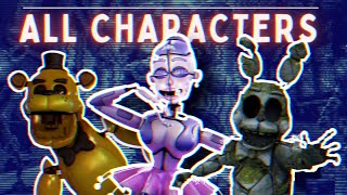 FNaF AR: Special Delivery - ALL CHARACTERS AND SKINS