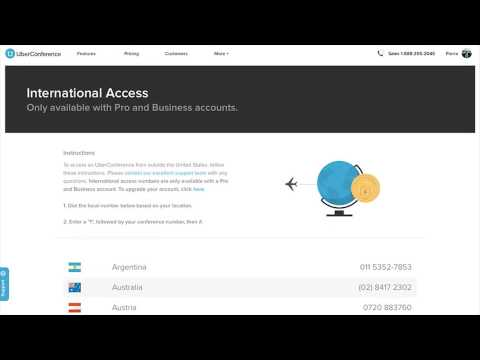 International Access with UberConference