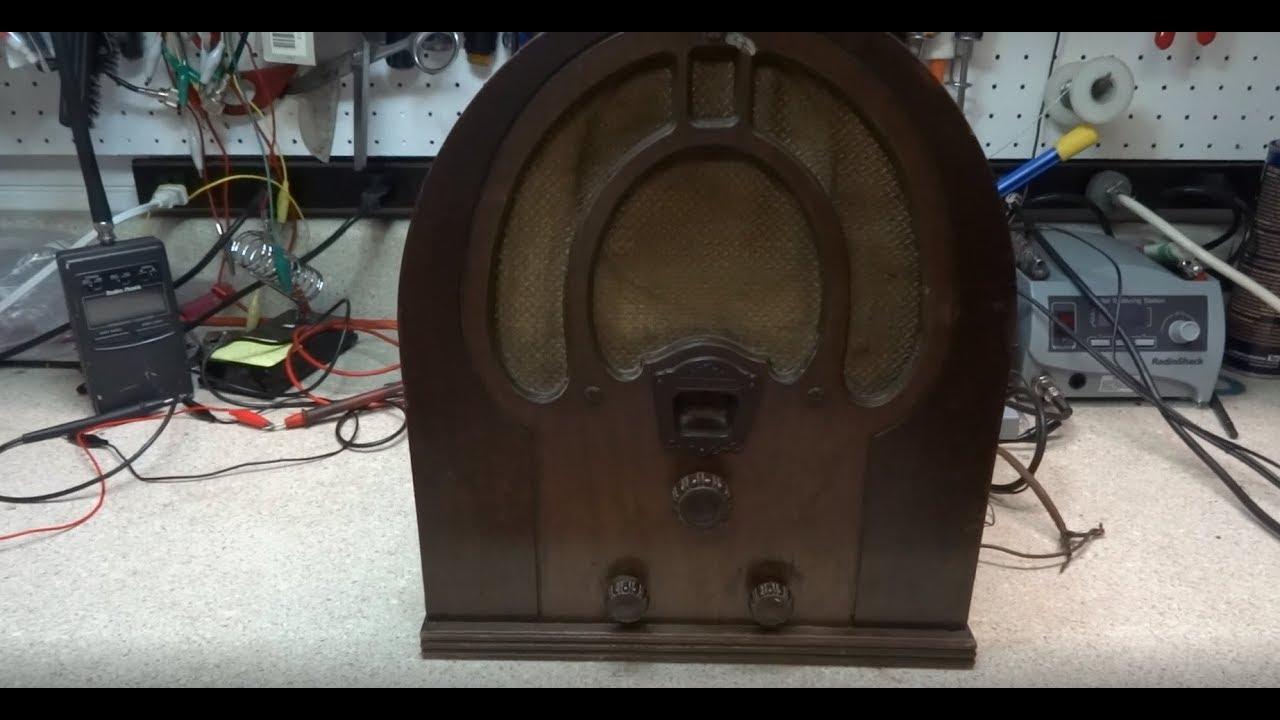 Repair Of A 1932 Philco JR Model 81 Cathedral Tube radio
