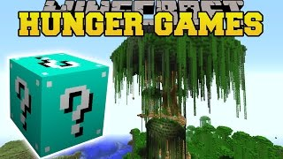 Minecraft: JERRY'S TREE HUNGER GAMES – Lucky Block Mod – Modded Mini-Game