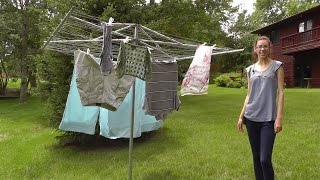 Modern outdoor clothesline