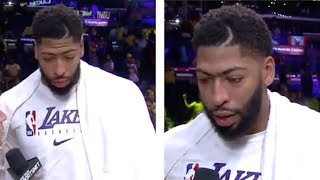 """Anthony Davis, """"WE NOT WORRIED ABOUT NO OTHER TEAM!"""" #LakersPostgame"""