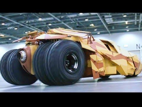 小夥自家研製的超級汽車,速度堪比火箭比坦克還結實,武器系統屌炸天!