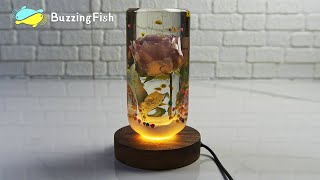 🌹Amazing Night Lamp With Resin and Rose - Resin Art 🌹