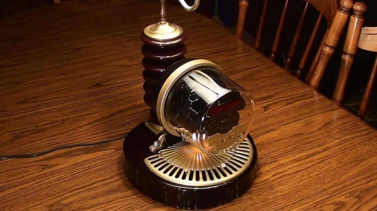 Steampunk Electric Meter Lamp Youtube