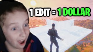 Giving My Little Brother $1 Every Time He Edits