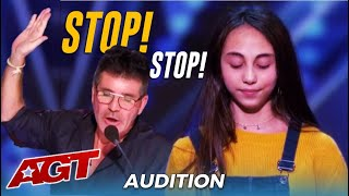 Simon Cowell STOPS 12-Year-Old Ashley Marina TWICE... Watch What Happens Next