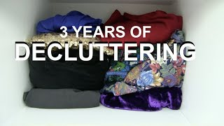 From Hoarder to Minimalist   Decluttering time-lapse    3 years   2018