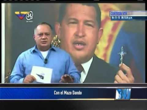 Diosdado Cabello Con el Mazo Dando a la payasa Lilian Tintori. Venezuela, 4 de noviembre, 2015