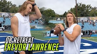 Clemson Star Trevor Lawrence TRAINS Top Quarterbacks How To UP THEIR GAME At The QB Retreat 💯