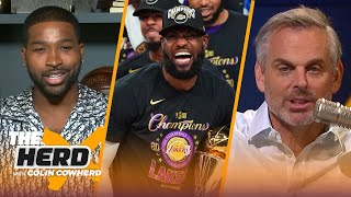 Tristan Thompson reacts to LeBron's 4th title, talks GOAT debate and Lakers | NBA | THE HERD