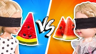 Barbie - Gummy Food vs Real Food Challenge | Ep.111