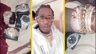 Young Thug Shows Off His Insane Jewelry Collection!