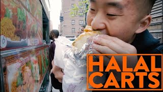 HALAL FOOD CART IN NYC (WE EAT THE WHOLE MENU) - Fung Bros Food