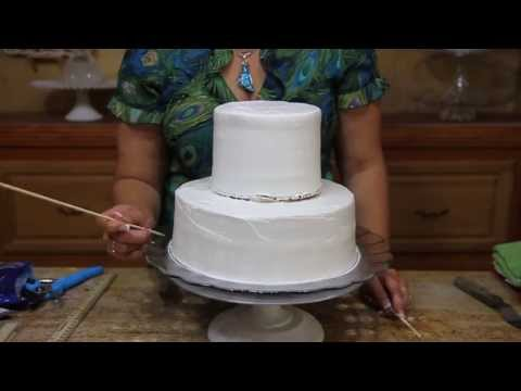 How To Stack And Dowell A Wedding Cake-cake Decorating Tutorial - Smashpipe Style