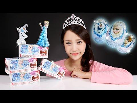 캐리의 겨울왕국 엘사 서프라이즈 에그 장난감 알까기 놀이 CarrieAndToys