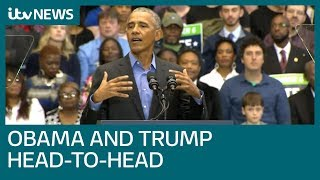 Trump and Obama try last-minute rallies ahead of mid-terms | ITV News