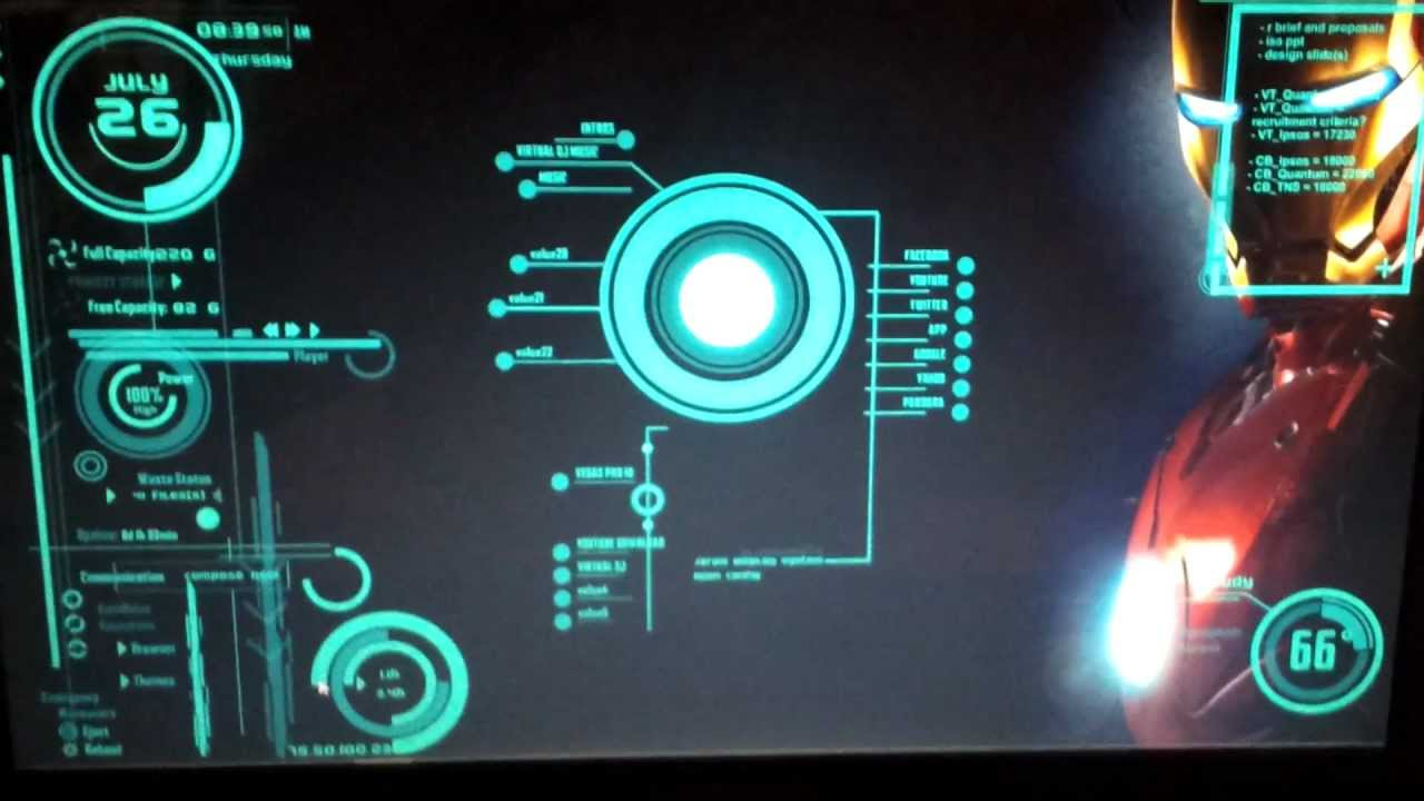 Pictures of Iron Man Jarvis Theme For Windows 7 - #rock-cafe
