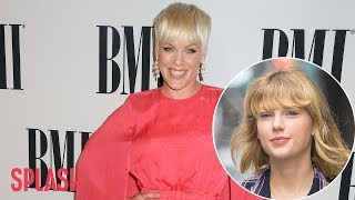 P!nk is on Team Taylor Swift | Splash News TV