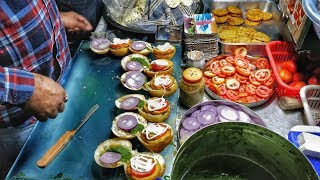 DESI BURGER IN DELHI | BUN FRIED BURGER | INDIAN STREET FOOD