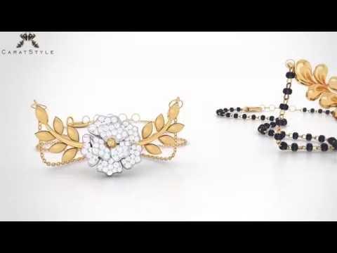 Latest and Trendy Diamond & Gold Mangalsutra/Tanmaniya : Papilior