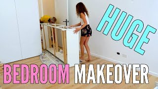 REDOING MY ROOM! My Room Makeover + Room Tour  *huge transformation*