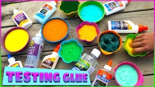 Giant Slime Glue Challenge! 25¢ vs $10 Which Glue Makes the Best Slime?