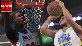 NBA 2K16 What If: Stephen Curry vs. Michael Jordan ['97 Bulls vs. '15 Warriors]