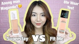 Maybelline Superstay 24hr Full Coverage VS Fit Me Foundation (Philippines)